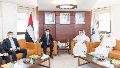 غرفة أبوظبي تبحث تعزيز التعاون التجاري مع السفير الكازاخستاني لدى الدولة