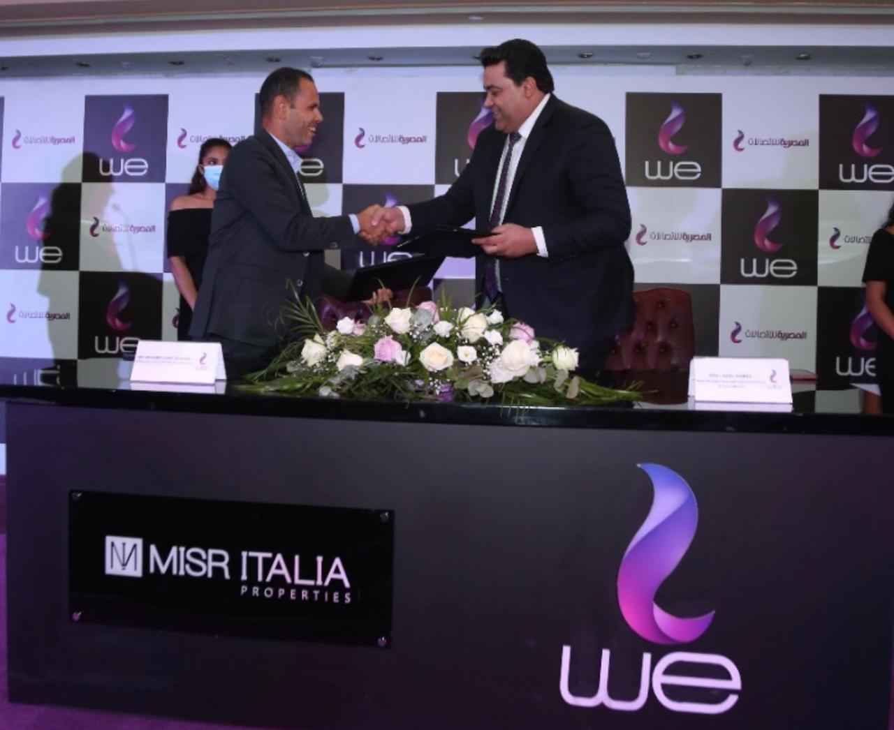 """""""المصرية للاتصالات"""" توقع بروتوكول تعاون مع """"مصر ايطاليا العقارية"""" لتقديم خدمات الاتصالات المتكاملة في مشروعاتها"""
