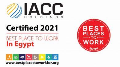تكريم شركة آي إيه سي سي القابضة كواحدة من أفضل أماكن العمل في مصر لعام 2021