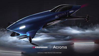 """""""اتصالات"""" تستضيفAirspeeder شريك Acronis، أول سيارة سباقات كهربائية طائرةفي العالم في معرض جيتكس 2021"""